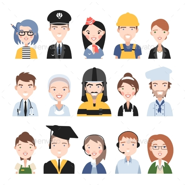 GraphicRiver People of Different Professions 11316212