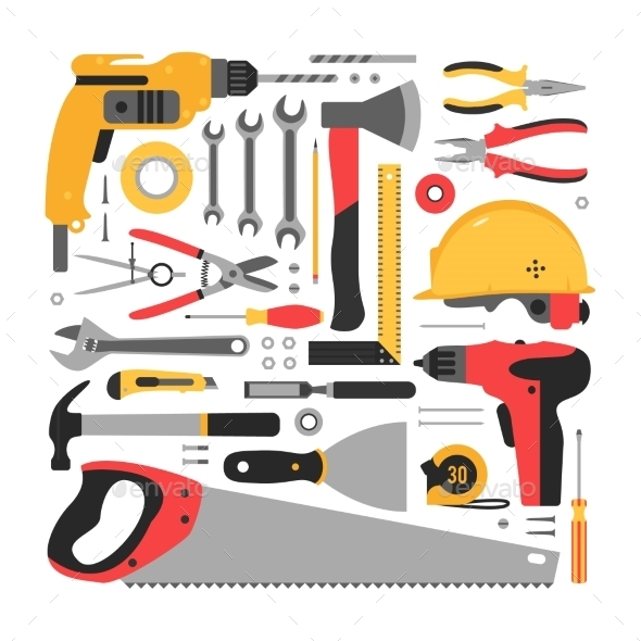 GraphicRiver Set of Construction Tools 11316219