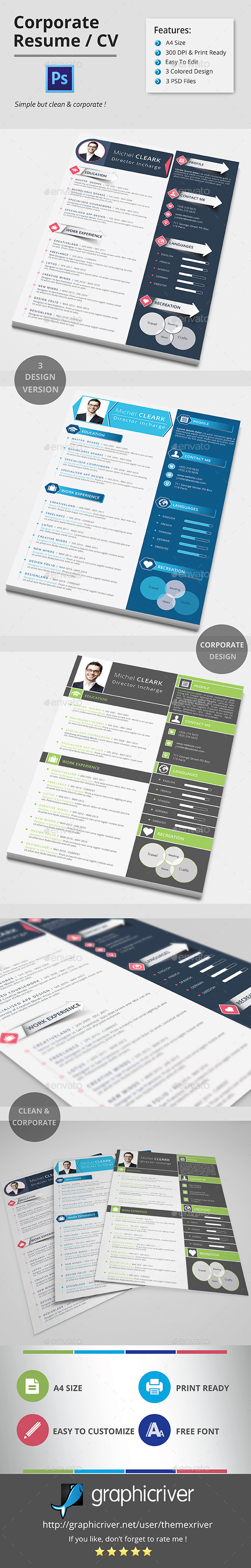 GraphicRiver CORPORATE RESUME CV 11316228