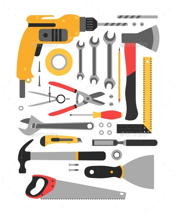 GraphicRiver Set of Construction Tools 11316229
