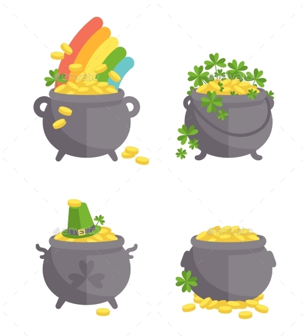 GraphicRiver Pot With Gold Set 11316270