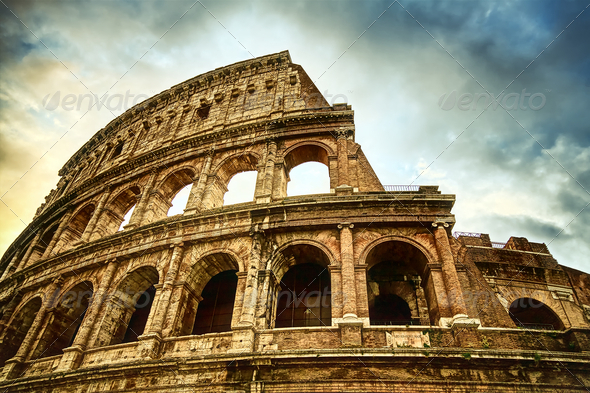 Colosseum in Rome - Stock Photo - Images