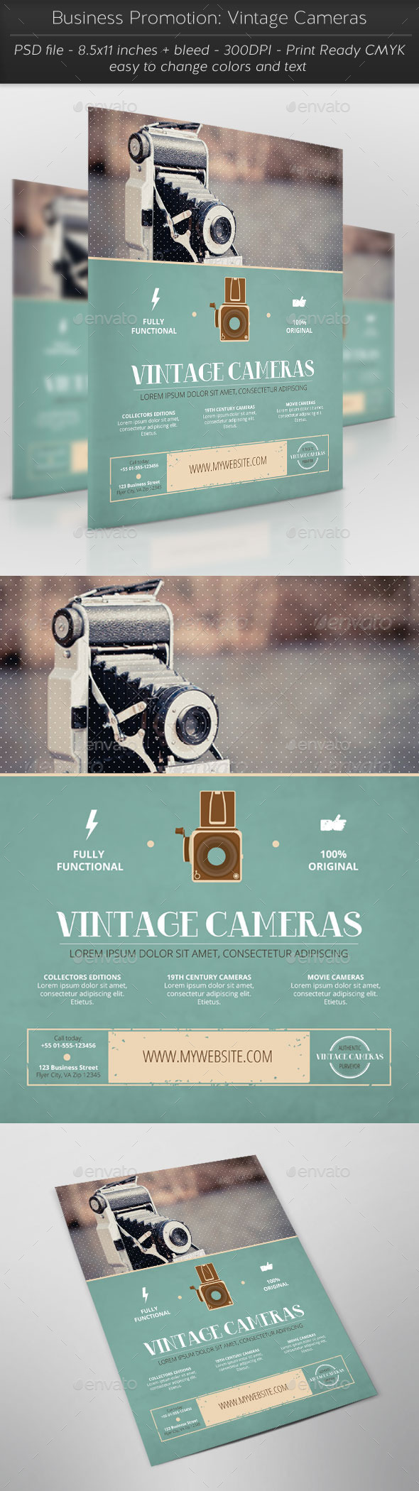 GraphicRiver Business Promotion Vintage Cameras 11316435
