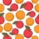 Oranges and Apples Seamless Pattern - GraphicRiver Item for Sale