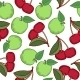 Apples and Cherries Seamless Pattern - GraphicRiver Item for Sale