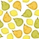 Pears and Lemons Seamless Pattern - GraphicRiver Item for Sale