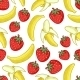 Strawberries and Bananas Seamless Pattern - GraphicRiver Item for Sale