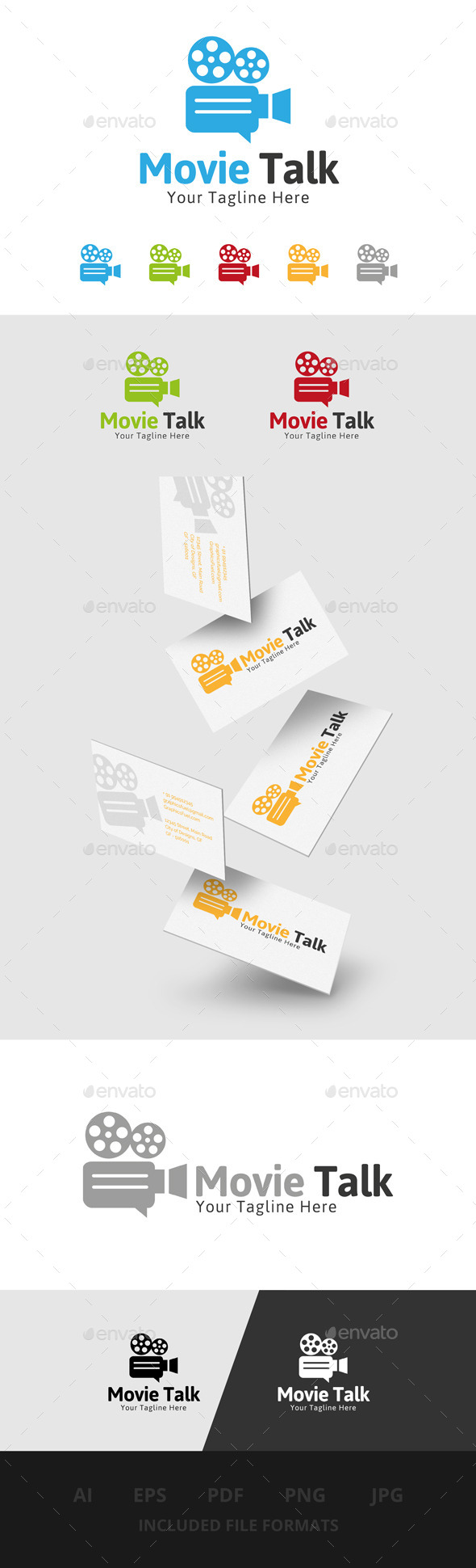GraphicRiver Movie Talk Logo 11316450
