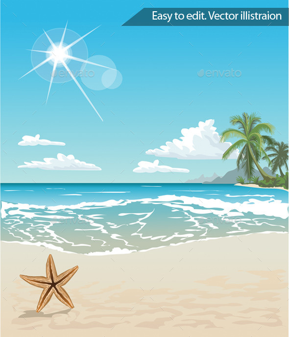 GraphicRiver Tropical Beach 11316612