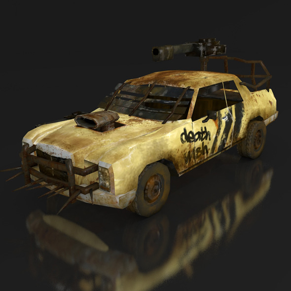 3DOcean postapo Mercedes Benz W114 1968 LOW POLY 11316717