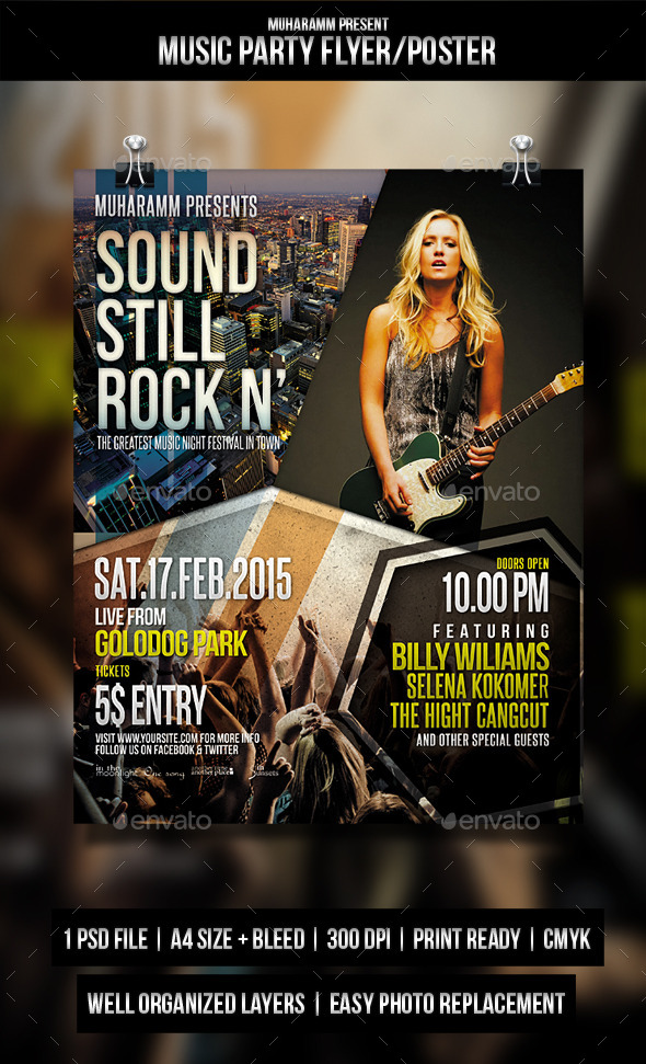 GraphicRiver Music Party Flyer Poster 11316735