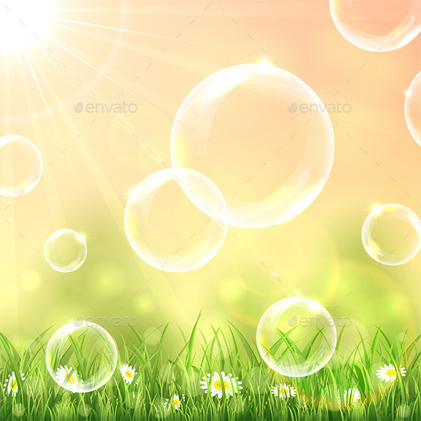 GraphicRiver Bubbles Above the Grass 11310838