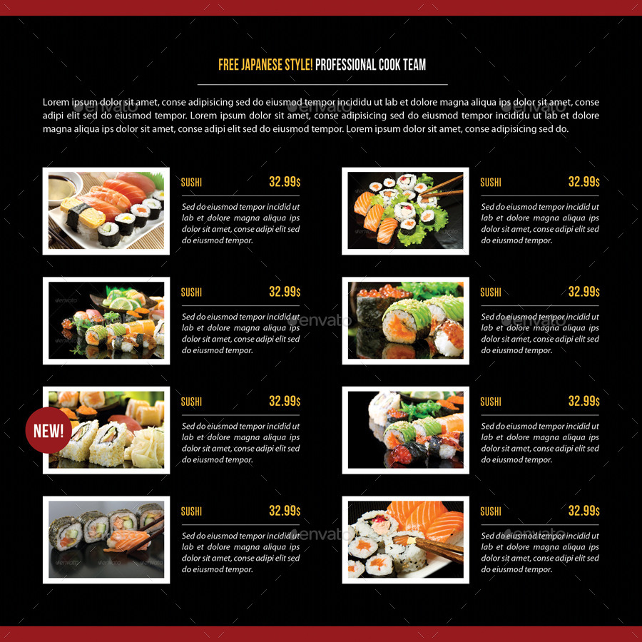 Ding Japanese Restaurant Menu