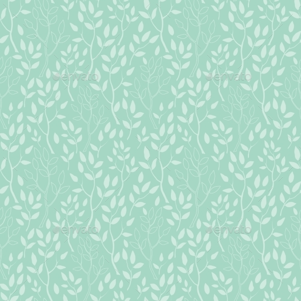 GraphicRiver Vector Green Trees Texture Seamless Pattern 11317102