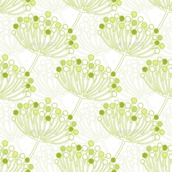 GraphicRiver Vector Green Bubble Plants Geometric Seamless 11317108