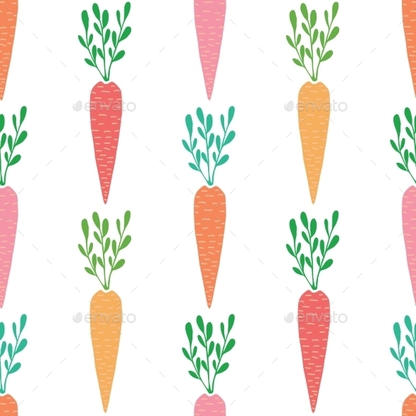 GraphicRiver Vector Yummy Carrots Seamless Pattern Background 11317193