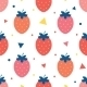 Vector Fun Strawberries Seamless Pattern - GraphicRiver Item for Sale
