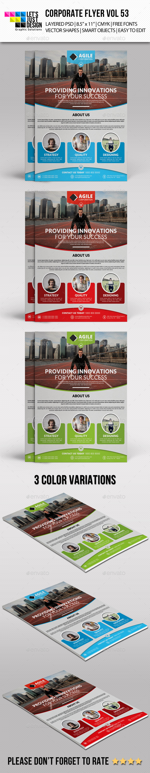 GraphicRiver Corporate Flyer Template Vol 53 11317365