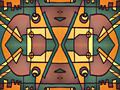 Multicolor Tribal Geometric Pattern - PhotoDune Item for Sale