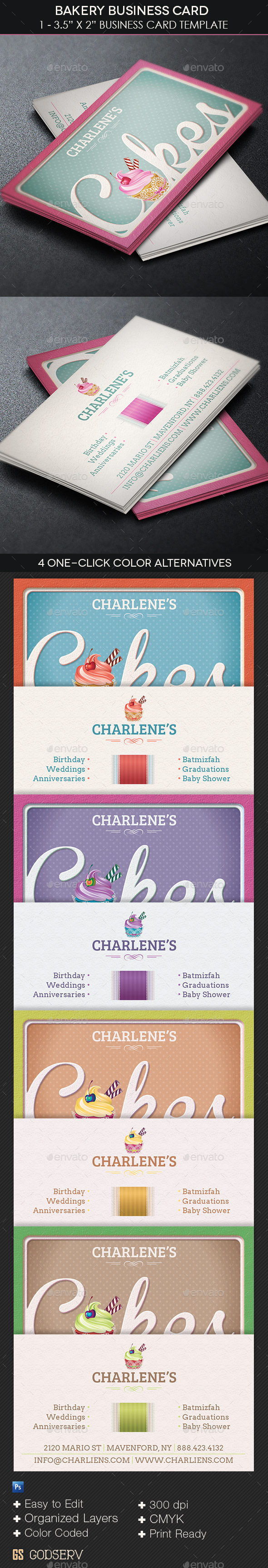 GraphicRiver Bakery Business Card Template 11317515