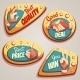 Vector Set Of Colored Brightly Badges With Hand - GraphicRiver Item for Sale