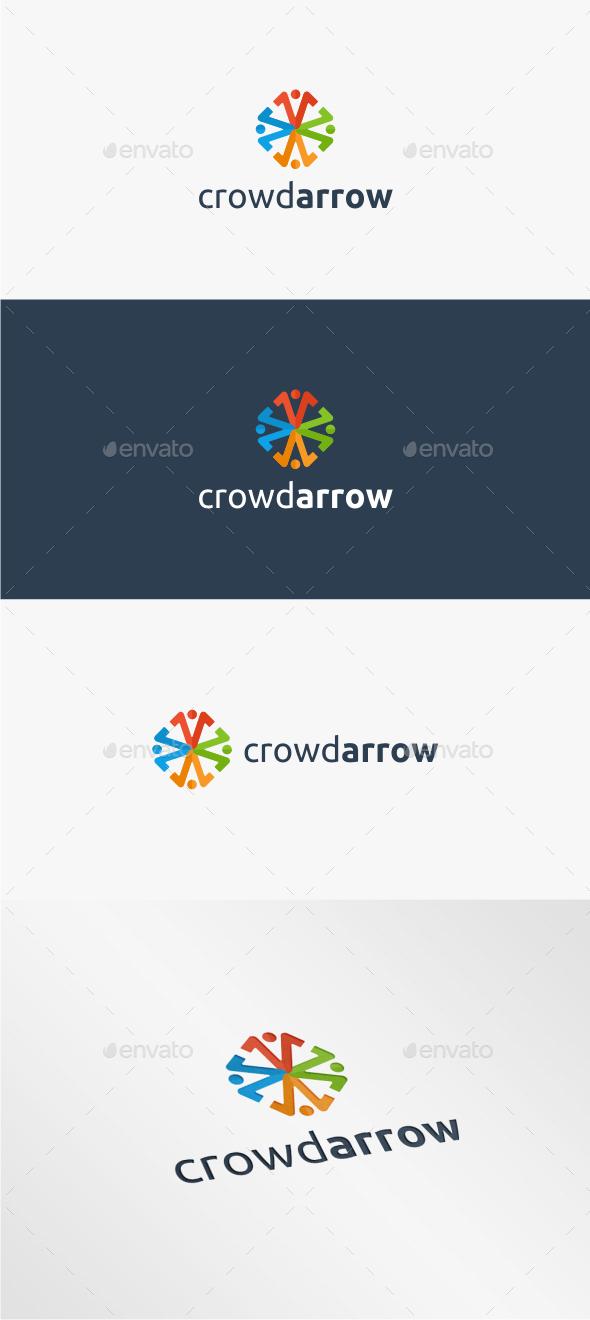 GraphicRiver Crowd Arrow Logo Template 11317609