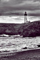 Yaquina lighthouse in B&W.