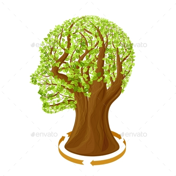 GraphicRiver Tree With Green Leaves 11319092