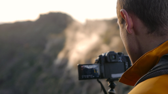Photographing Sunrise over the Mountain
