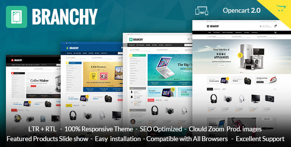 Branchy - Opencart Responsive Theme - Technology OpenCart