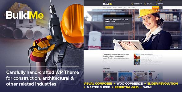 ThemeForest BuildMe Construction & Architectural WP Theme 11242771