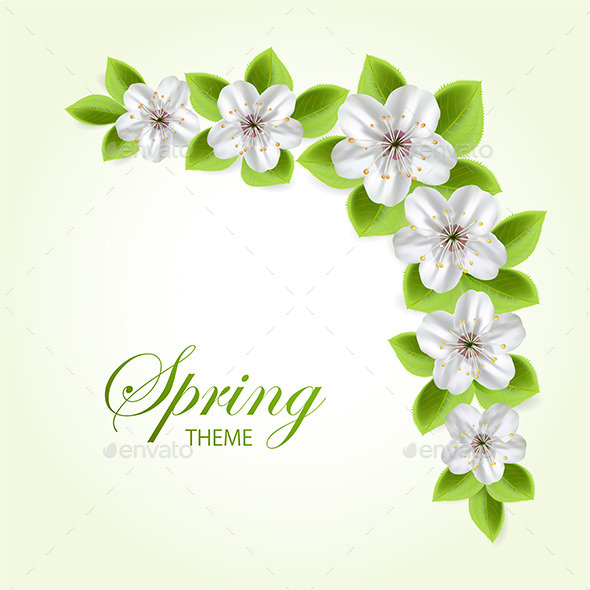 GraphicRiver White Flowers 11319281