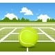 Vector Illustration Of Tennis - GraphicRiver Item for Sale