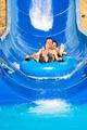 People water slide at aqua park - PhotoDune Item for Sale