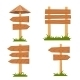 Vector Wooden Signs Set  - GraphicRiver Item for Sale
