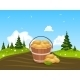 Wood Bucket Full Of Harvested Potatoes - GraphicRiver Item for Sale