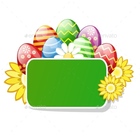 GraphicRiver Easter Eggs With The Green Table 11319802
