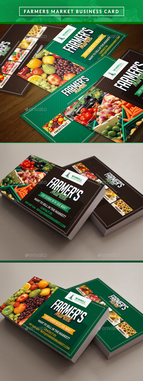 GraphicRiver Farmer s Market Commerce Business Cards 11319891