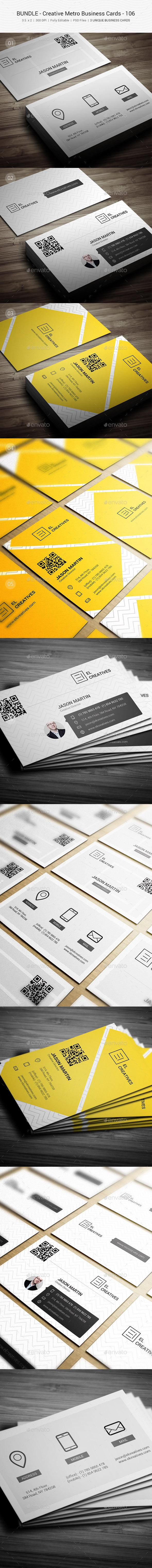 GraphicRiver Bundle Creative Metro Business Card 106 11320013