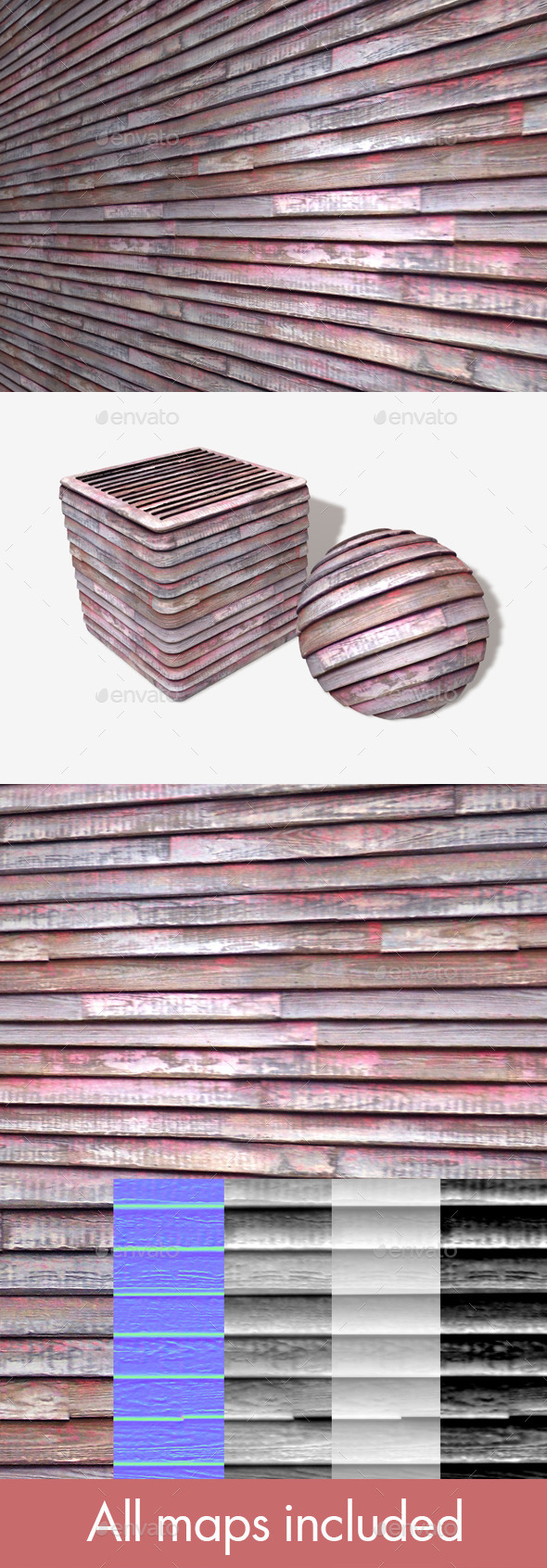 Weathered Painted Wood Seamless Texture