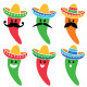 Chili Pepper in Mexican Sombrero Hat with Mustache - GraphicRiver Item for Sale