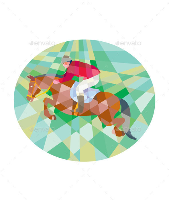 GraphicRiver Equestrian Show Jumping Oval Low Polygon 11320052
