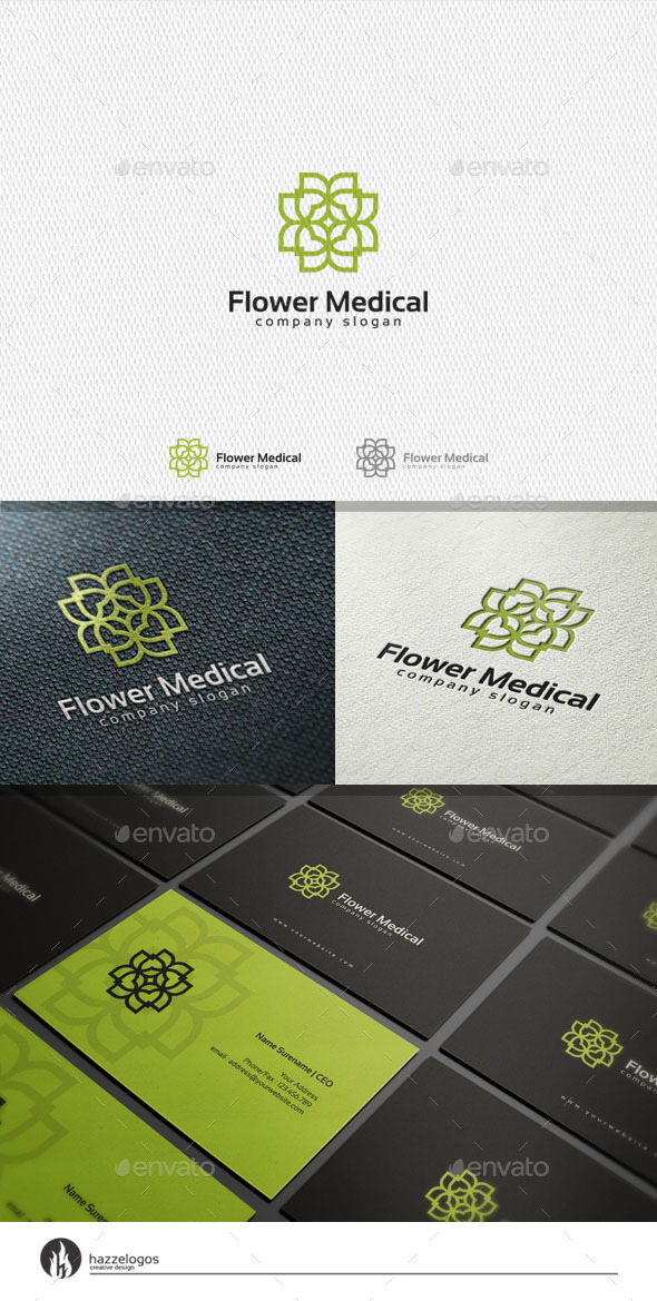 GraphicRiver Flower Medical Logo 11320055