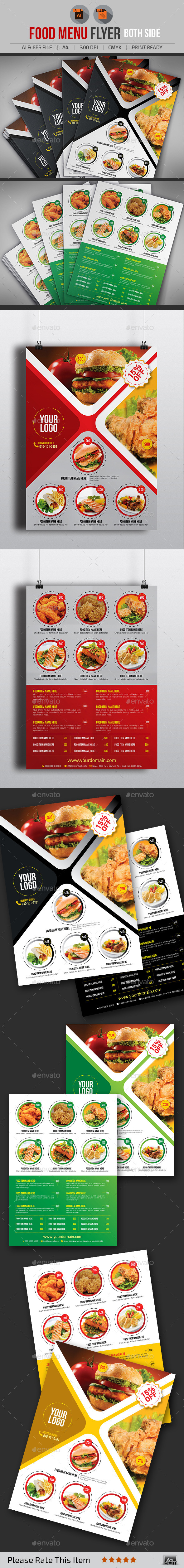 GraphicRiver Food Menu Flyer V2 11280247
