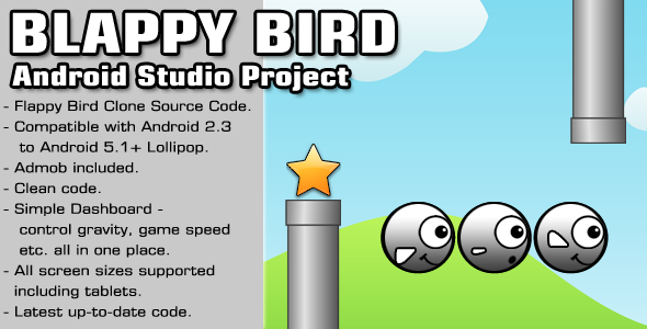 CodeCanyon Blappy Bird Source Code Android Studio Project 11230906
