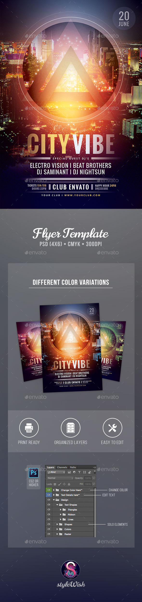 GraphicRiver City Vibe Flyer 11320067