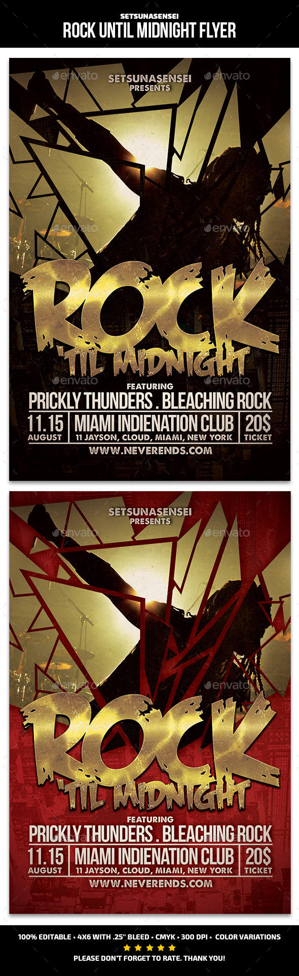 GraphicRiver Rock Until Midnight Flyer 11320076