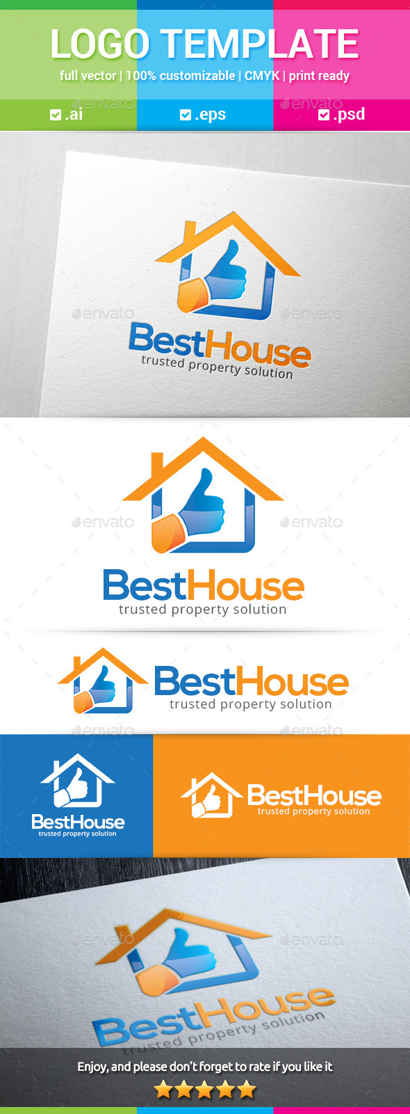 GraphicRiver Best House Logo 11320286