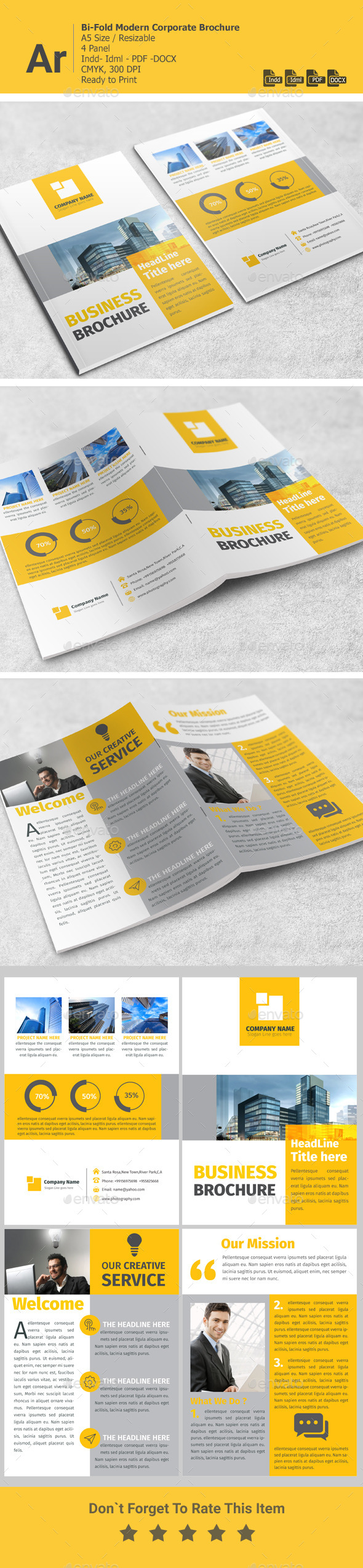 GraphicRiver Bi-Fold Corporate Brochure A5 11320289