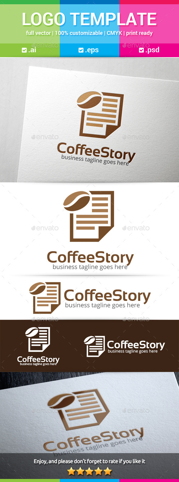 GraphicRiver Coffee Story Logo 11321652